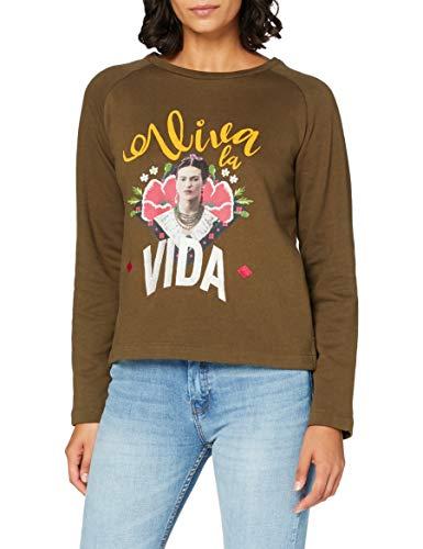Springfield 3.Gym.Frida Viva-C/28 Sudadera, Verde (Green 28), XS (Tamaño del Fabricante: XS) para Mujer
