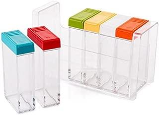 DecentGadget Seasoning Bottle Spice Jar Condiment Storage Pot Container