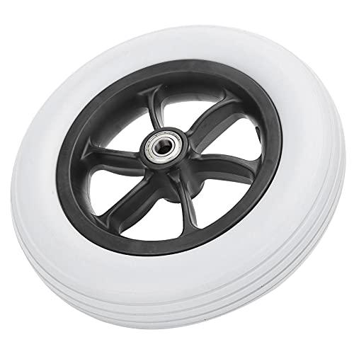 Neumático para silla de ruedas, diámetro del orificio central de 12 mm Neumático delantero para silla de ruedas manual resistente a explosiones con diámetro de rueda de 10 pulgadas para