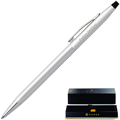 Personalized Cross Pen | Cross Classic Pen Lustrous Chrome Ballpoint Gift Pen, Custom Engraved By Dayspring Pens. Executive Gift Pen.
