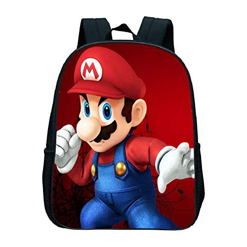 Cute Super Mario Bros Mini Book Backpack, Niños Niños Volver a la Escuela Mochila de Regalo Kindergarten Hermosa Mochila