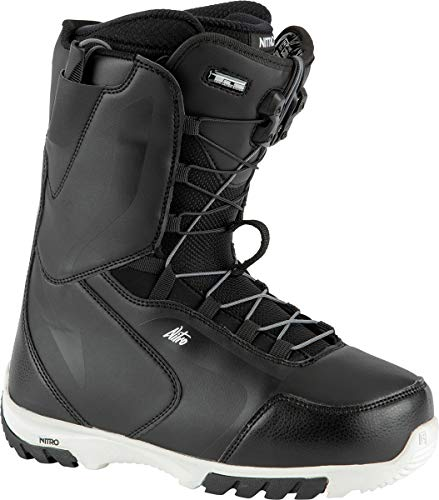 Nitro Snowboards Damen Cuda TLS '21 All Mountain Freestyle Schnellschnürsystem Boot Snowboardboot , Black-White, 26.0