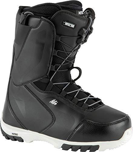 Nitro Snowboards Damen Cuda TLS '21 All Mountain Freestyle Schnellschnürsystem Boot Snowboardboot , Black-White, 26.0