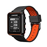 CANMORE TW-353 GPS Golf Watch - Essential Golf Course Data and Score Sheet - Minimalist & User Friendly - 38,000+ Free Courses Worldwide - 4ATM Waterproof - 1-Year Warranty - Orange