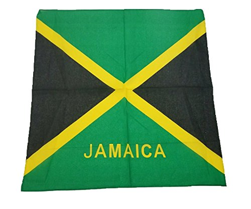 BUNFIREs One jamaikanischen Flagge Jamaika Bandana-Large Größe: 22x 22