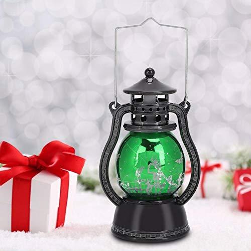 Emoshayoga Leichte PVC-Form einzigartige stabile Exquisite Muster Lampenfenster für Tischwand(Green Oil lamp)
