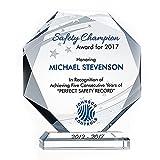 Trophy Cup Trofeo de Cristal Letras Personalizadas Tarjeta de Agradecimiento Tarjeta de autorización jubilación Trofeo Honor Pin Corona Medalla de Vidrio