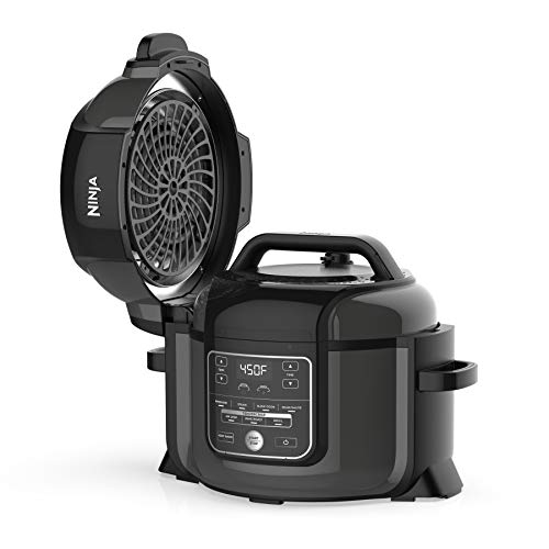 Ninja OP301 Pressure Cooker, Steamer & Air Fryer w/TenderCrisp Technology Pressure & Crisping Lid, 6.5 quart, Black/Gray