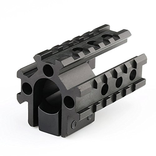 VERY100 Tri- Rail 65mm Long See Through Barrel Mount W/20mm Base 20mm Picatinny Weaver
