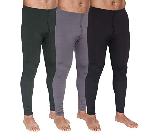 3-Pack: Men's Thermal Underwear Pants Set Warm Long Johns Compression Underpants Leggings Training Tights Active Clothing - Set 3, Small