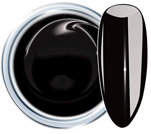 HN Hollywood nails Colour Gel, Schwarz, 52 Designer Black 5 g Farb UV Gel