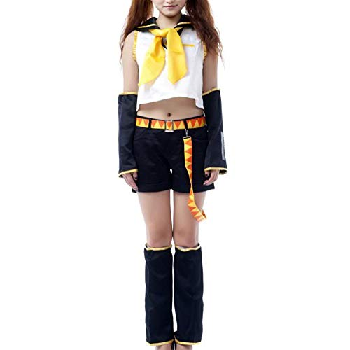 Ilovcomic Women's Vocaloid Cosplay Kagamine Rin 1st White Costume Size XS Plus