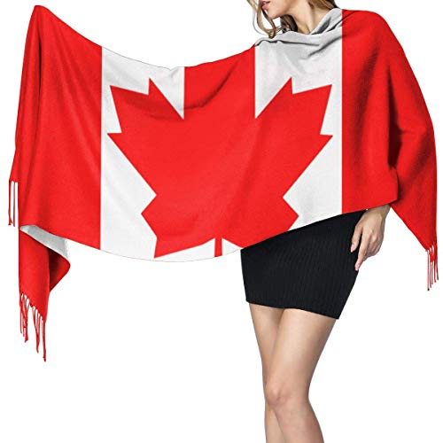 XCNGG Imitation Kaschmir Fransen Schal Schal Long Fashion Schal Cashmere Feel Shawl Wraps Canada Flag.png Fashion Large Scarf For Women Winter Warm Soft Scarves Blanket