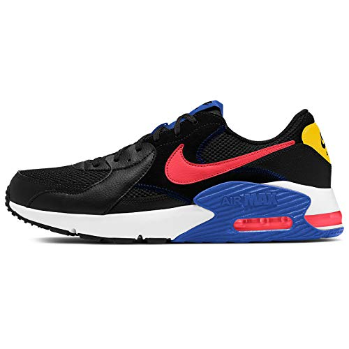Nike Air MAX EXCEE, Zapatillas para Correr de Carretera para Hombre, Black/Flash Crimson/White/Game, 44 EU