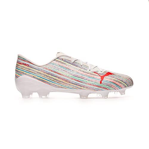 Puma Ultra 2.2 FG/AG, Zapatillas de fútbol Hombre, Blanco Rojo Blast Blanco, 44 EU