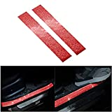 CARSA 2 Pack Rear Bumper Protector Guard Universal Bling Trunk Door Protector Exterior Car Accessories Trim for SUV/Cars (Width5CM/1.97', Long45CM/17.8') Red