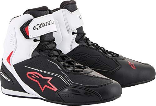 Alpinestars 2510219123-43 - Zapatillas de cuero para hombre multicolor Blanco Rojo Negro 10 (43)