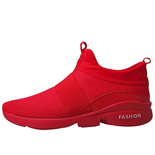 DEELIN Calzado Deportivo para Hombre Moda De Hombre Zapatillas De Deporte Beathable Zapatos De Malla Calzados Sin Cordones Calzados Informales Calzado para Correr