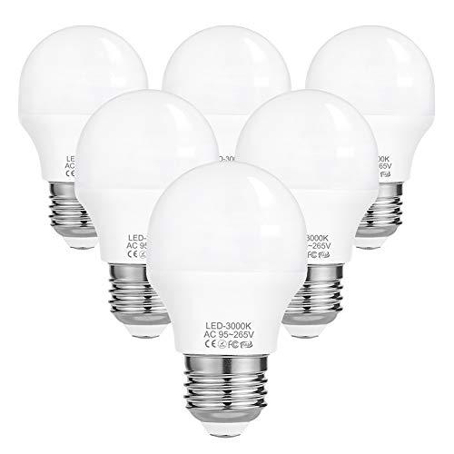 Preisvergleich Produktbild G45 LED E27,  4W LED Birne,  ersatz - 40W Glühbirne E27,  390 Lumen 185-265V 3000K - LED Warmweiss E27 40W,  6er-Pack