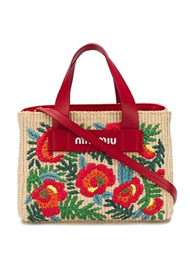 Miu Miu Luxury Fashion Damen 5BA1762C9HF029R Beige Leder Handtaschen | Frühling Sommer 20