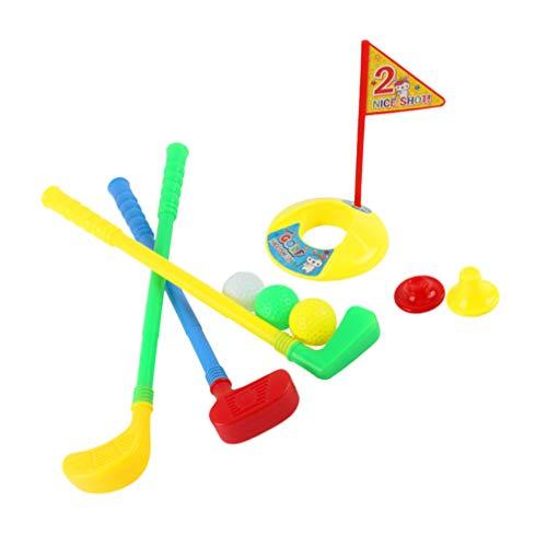WINOMO Kinder Golf Club Set Kleinkind Golfball Spielset Outdoor Sportspielzeug für Kinder Kinder Kleinkind (Farb-Randomisierung)