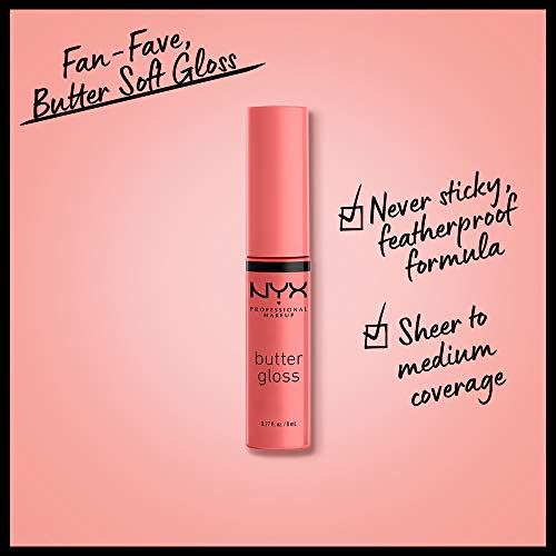 NYX PROFESSIONAL MAKEUP Butter Gloss - Creme Brulee (Natural), Non-Sticky Formula
