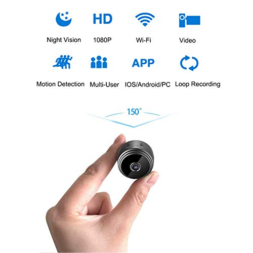 Cam Mall DIY Camera Hidden Spy Camera, Mini Wi-Fi HD 1080P Wireless Security Nanny Cam for...