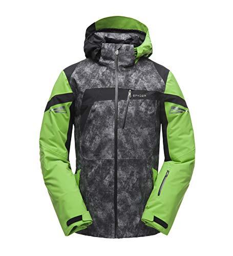Spyder M Titan Jacket Grau-Grün-Schwarz, Herren Gore-Tex Isolationsjacke, Größe S - Farbe Cloudy Tonal Distress Print -