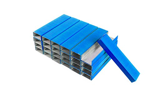 PraxxisPro Staples, Standard Size Chisel Point Staples 26/6, Blue, 5000 Count