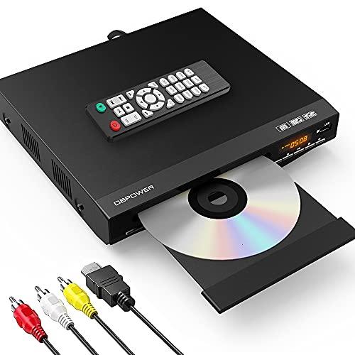 DBPOWER 1080P HDMI DVDプレーヤー 再生専用 ディスクプレーヤー RCA/HDMIケーブル付属 RCA/HDMI/USB端子搭載 リーションフリー CPRM対応 日本語説明書付き 【メーカー1年保証】