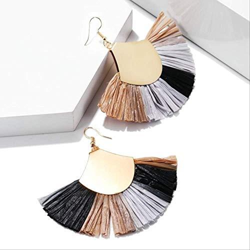 Damen Ohrringe Sets Creolen Ohrringe für Frauen Sektor Große Quaste Ohrringe Lange Ohrringe BöhmischesGeschenkfür die Hochzeitez292-2
