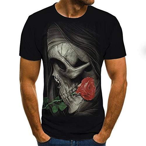3D Kurzarm 3D-T-Shirt Mit Totenkopf-Print Für Männer Kurzarm-T-Shirt Lustige Lässige, Atmungsaktive T-Shirts-Txu-1795_M.
