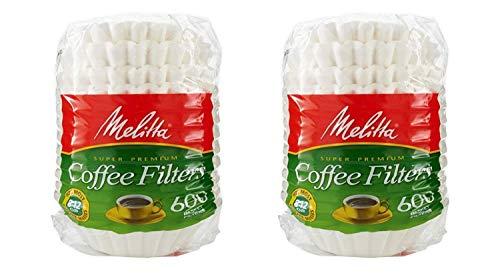 Melitta 600 Kaffeefilter, Korb, 1200 Stück, Weiß