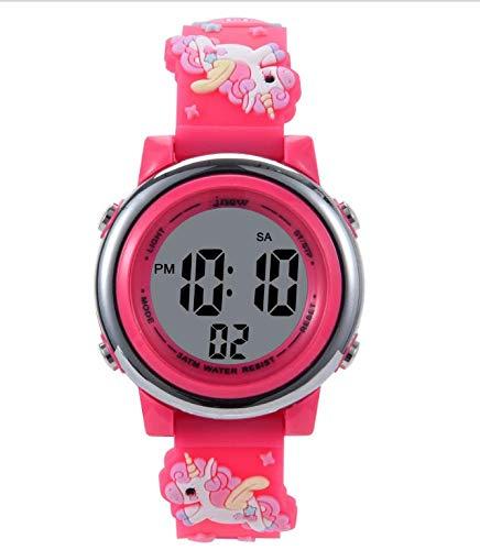 Kinder Uhr,Armbanduhr für Kinder Mädchen,Digital wasserdichte 3D Cute Cartoon Uhren 5-11 Jahren Digitale...