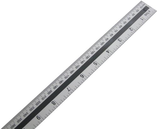 Am-Tech - Righello in alluminio, 1 m