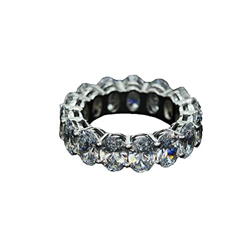 Anillo de diamantes de la serie SMEJS, anillo de diamantes completo, anillo S925, diamante con alto contenido de carbono, anillo de compromiso para mujer, regalo de joyería boutique de diamantes