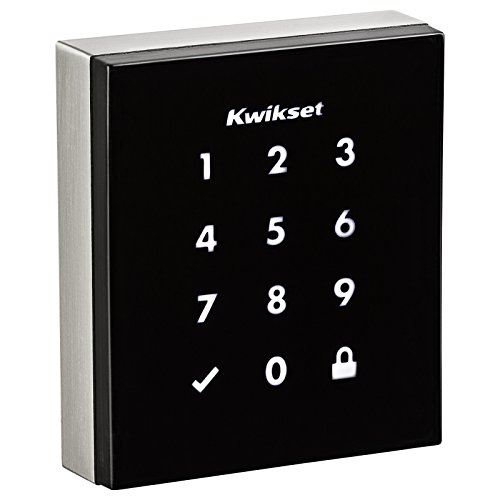 Kwikset 99530-001 Obsidian Slim Modern Electronic Touchscreen Keyless Deadbolt, Satin Nickel