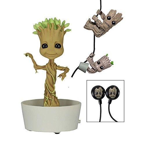 Marvel Guardian Of The Galaxy Pack – Figurine dansante Groot – Grimbers – Écouteurs
