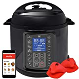 Mealthy MultiPot 9-in-1 Programmable Electric Pressure Cooker with Stainless Steel Pot, Steamer...