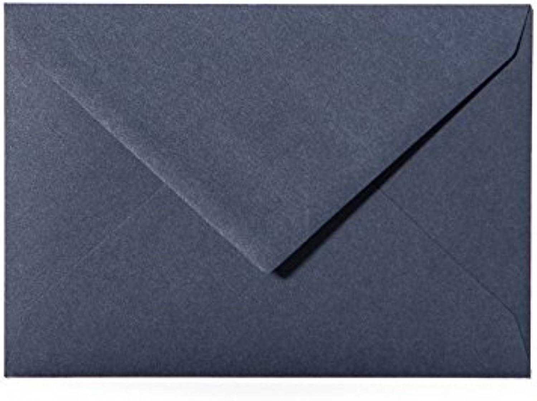 100 Briefumschläge 140 x 190 mm mit Dreieckslasche, 120g, Farbe  19 Dunkelblau B015GQRKXC   Exquisite Verarbeitung