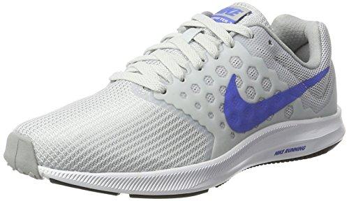 Nike Damen Downshifter 7 Laufschuhe, Silber (Pure Platinum/Midnight Blue/Wolf Grey/White), 36.5 EU