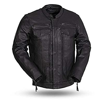 First MFG Co.- Raider - Men's Motorcycle Leather Jacket  Men's Leather Jacket for Ridding from First Manufacturing Co