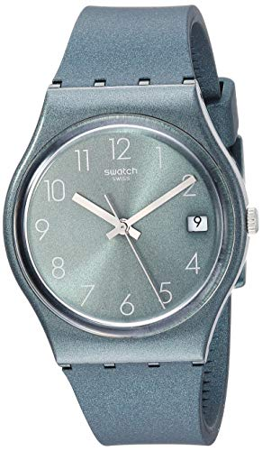 Swatch Core Refresh - Correa de silicona de cuarzo, color verde, 16 reloj casual (modelo: GG407)