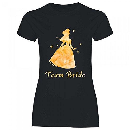Royal Shirt rs134 Damen T-Shirt Gelbe Prinzessin Team Bride | JGA Schöne Biest Hochzeit Heirat...