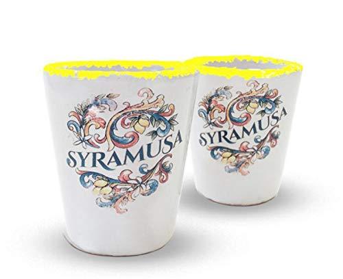 Syramusa-Marke von Limoncè Stock Set Keramiktassen Kapazität 3 cl