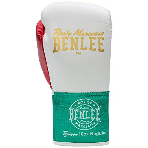 Benlee Boxhandschuhe Typhoon, Größe:10 oz R, Farbe:White/Green/red