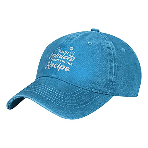 Your Opinion Wasn't in The Recipe Hats, berretto da baseball unisex vintage regolabile classico cappello da camionista