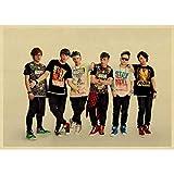 QAQTAT Chinesische Rockband MayDay Retro Kraftpapier Poster