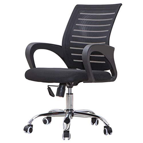 Mesh Chair/Simple Office Chair, umweltfreundlich, langlebig, geeignet für Schlafzimmer/Arbeitszimmer/Büro, schwarz, Größe (100x56x50cm)