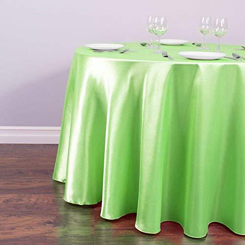 EDCV tafelkleed Decors voor Home Event Party Hotel Benodigdheden Wit SatijnRond Tafelkleed Tafelkleed Groothandel voor Bruiloft Kerst, Lichtgroen